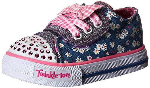 Skechers Shuffles daisy Dotty, Girls' Low-Top Sneakers, Blue - Blau (DNPK), 6 Child...