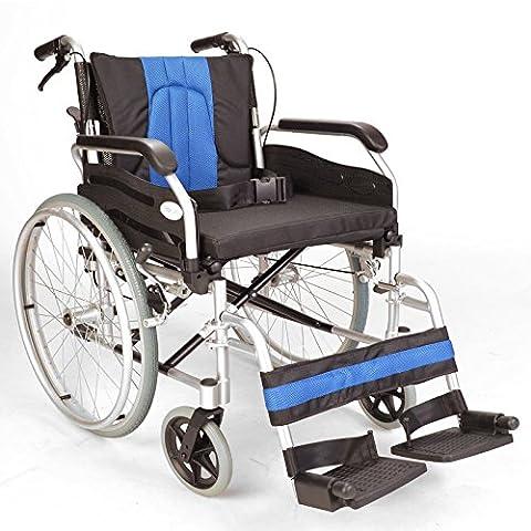 Lightweight Aluminium folding self propel Wheelchair with 20-inch extra wide seat ECSP01-20