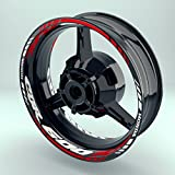 Felgenaufkleber Set HONDA CBR 600 RR für Motorrad   17 Zoll   Felgenrandaufkleber & Felgenbettaufkleber   Vorder- & Hinterreifen Set (Doppelt - glänzend)