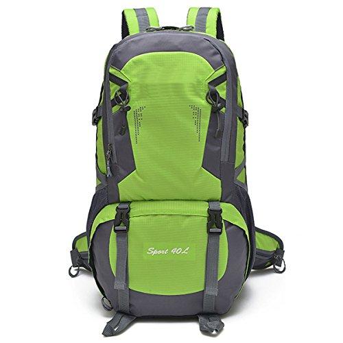All'aperto arrampicata Viaggio Le spalle Campeggio A piedi Unisex Impermeabile Escursionismo indossabile Nylon Zaino (Rosso) verde