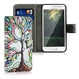 kwmobile Samsung Galaxy A3 (2015) Hülle - Kunstleder Wallet Case für Samsung Galaxy A3 (2015) mit Kartenfächern und Stand