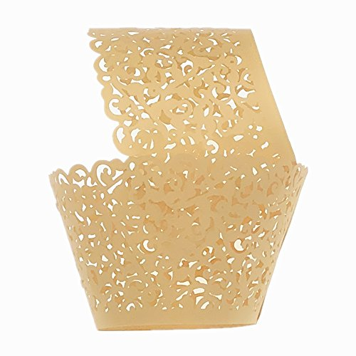s 100Stück/Pack Lace Cupcake Liners Laser Cut Cupcake Papier Cupcake Muffin Cups für Hochzeit/Geburtstag Party Dekoration (Halloween Cupcake Liner)