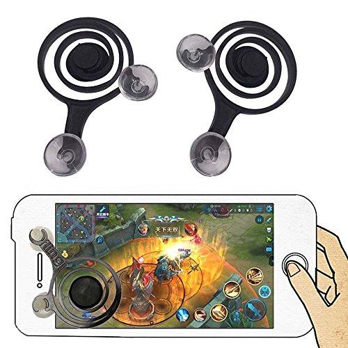 Eyemesto Mobile Game Joystick Mobile Phone Game Rocker Touch Screen Joypad Tablet Funny Game Controller (2 Pcs) (Black)