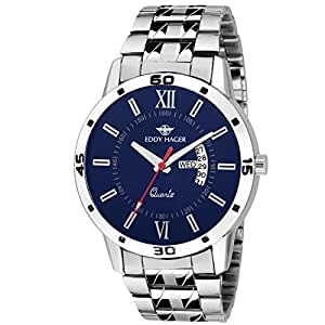 Eddy Hager Day and Date Men's Watch (Blue)