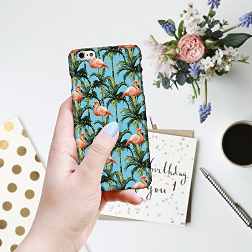 botanique Tropical hawaïen Fleur Floral hawaïen étuis de téléphone pour iPhone modèles, plastique, 3: Denim Blue Tropical Island Parrots on White, iPhone 6 / 6S - Slim Case 22: Flamingo Palm Trees on Blue