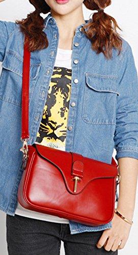 Longzibog Dual verstellbare Schultergurte und Hängeschlaufenband Mode Simple Style Fashion Tote Top Handle Schulter Umhängetasche Satchel Blau