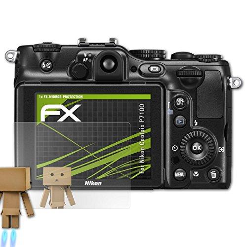 atFoliX Displayfolie kompatibel mit Nikon Coolpix P7100 Spiegelfolie, Spiegeleffekt FX Schutzfolie