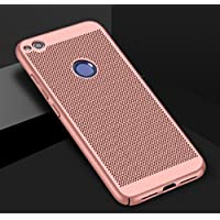 Funda Huawei P8 Lite(2017),Alta Calidad Ultra Slim Anti-Rasguño y Resistente Huellas Dactilares Totalmente Protectora Caso de Plástico Duro Case,Cuadrícula Disipación de calor Antideslizante Cover
