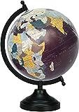 BASE DE METAL GIRANDO Mapa del mundo político tabla Planeta Océano tierra geográfica