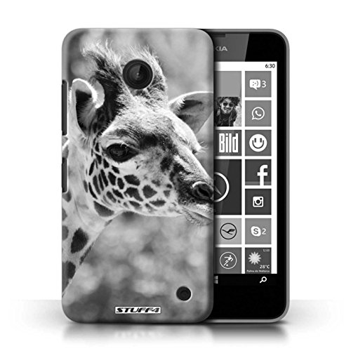 Kobalt® Imprimé Etui / Coque pour Nokia Lumia 635 / Grenouille conception / Série Animaux de zoo Girafe