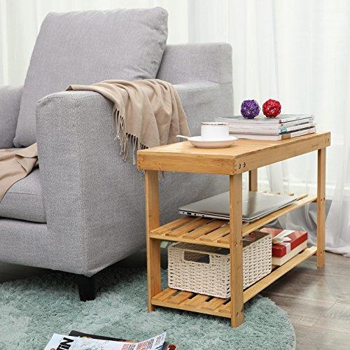 Sitzbank / Schuhregal aus Bambus - 4