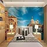Mural Fotomural Papel Pintado Decoración Para El Hogar Papeles Pintados 3D Europa Venecia Foto Papel Tapiz Mural Salón Dormitorio Papel Tapiz Vinilo Autoadhesivo/Papel Tapiz De Seda, 430 * 300 Cm