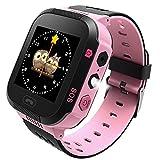 Bambini GPS Smartwatch, 1.44 '' Touchscreen Phone Fotocamera Orologio Intelligente Tracker Giochi Pedometro Timer Sveglia Cronometro Smart Watch (pink)