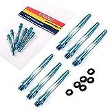CUESOUL 2 Set 2BA Alluminio Aste per Freccette con O'ring - Meidum (DS-026)