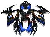 LoveMoto Verkleidung für GSX-R600 GSX-R750 K6 2006 2007 06 07 GSXR 600 750 ABS Spritzguss Kunststoff-Motorradverkleidung-Sets Schwarz Blau