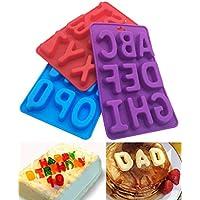 Juego de 26 letras mayúsculas de silicona, hechas a mano, para decoración de tartas
