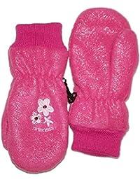 Outburst - Baby Fausthandschuhe Mädchen Fleece wasserabweisend Glitzer, pink