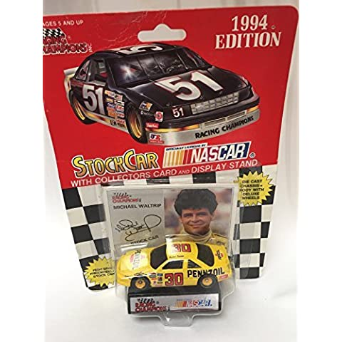 RACING CHAMPIONS 1994 EDITION #30 NASCAR MICHAEL WALTRIP 1:64 SCALE WITH CARD by Racing Champions