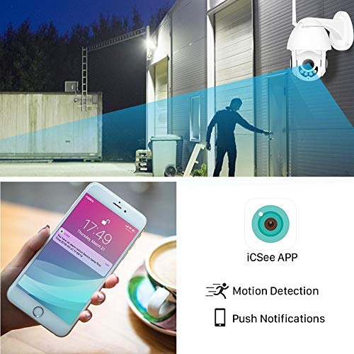 DYWLQ WiFi Home Security Surveillance 1080P drahtlose IP-Kamera, Outdoor/Indoor-Wasserdach-Nachtsicht-Dome-Kamera, Intelligenz-Bewegungserkennung Zweiwege-Audio