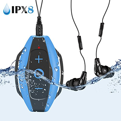 Mp3 Acuatico 8GB, AGPTEK S05 Waterproof Clip Reproductor de MP3 con Au