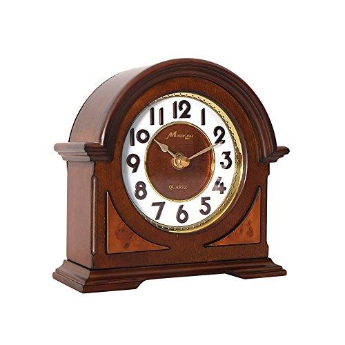 Antike Massivholz (Sunjun Massivholz Uhr Europäischen Wohnzimmer Nacht Antik Uhr Antik Uhr B19cm * H19cm)