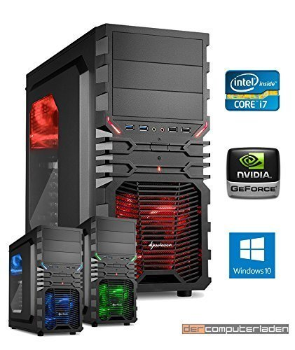 Gamer PC System Intel, i7-6700K 4x4,0 GHz, 16GB DDR4 RAM, 2000GB HDD, nVidia GTX1080 -8GB, inkl. Windows 10 (inkl. Installation) Gaming Computer Büro Multimedia dercomputerladen