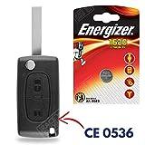 Boitier/Coque pour Télécommande Plip Clé Citroen C4 Picasso C2 C3 C5 Berlingo Jumper + Pile CR1620 Energizer - Kit iRace Keys