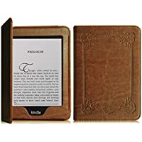 FINTIE Folio Case for Kindle Paperwhite - The Book Style PU Leather Cover Auto Sleep/Wake for All-New Amazon Kindle Paperwhite (Fits All 2012, 2013, 2015 and 2016 Versions), Vintage Antique Bronze