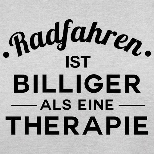 Radfahren ist billiger als eine Therapie - Herren T-Shirt - 13 Farben Hellgrau