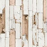 i.stHOME Klebefolie Möbelfolie altes Holz - Door grau beige braun 67,5x200 cm - Dekorfolie Holzoptik - Selbstklebefolie Holzdekor vintage - selbstklebende Folie