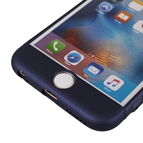 Dur Coque Pour iPhone 6/6S, Asnlove PC Hard Cover Intégrale Protection Housse Couleur Pure Mode Cas Ultra Mince Rigide Étui Antichoc Case Pour iPhone 6/6S - Rouge Bleu foncé