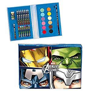 Maletin artista Vengadores Avengers Marvel Team 30pz