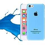 SHOP4PHONE® - Coque étui housse rigide iPhone 5c Bleu