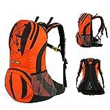 Skysper 30L Sac a Dos Résistant à L'eau en Nylon Unisexe Multifonction Sac d'Hydratation Sports de Loisir Sac d¡¯Alpinisme Camping Voyage Cyclisme Trekking 26cm(W) * 47cm(H) Orange