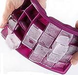 Glaçons, Moacc 24Cube en silicone de qualité alimentaire bac à glaçons Moules de libération facile machine à glace Gelée Pudding Moule violet