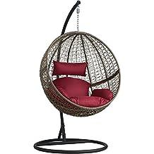 tectake chaise hamac avec support en rsine tresse fauteuil suspendu de jardin balancelle transat diverses - Chaise Oeuf Suspendu