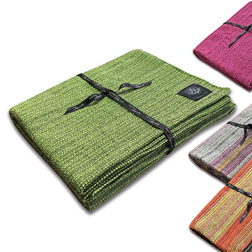 Craft Story Decke YARA I Uni apfelgrün aus 100% Baumwolle I Tagesdecke I Sofa-Decke I Couch-Überwurf I Bedspread I Plaid I 170 x 220cm - Grünes Plaid-muster