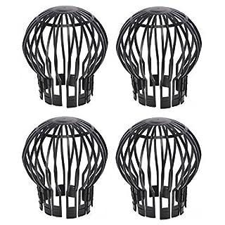 Fallrohrschutz Laubstopp 4 Stück schwarz Dachrinnenschutz