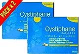 Cystiphane Bailleul- Cystine B6 -Zinc - Arginine - Cheveux et ongles - Santé - Force et Vitalité Protège du stress oxydatif - Complément alimentaire pour cheveux et des ongles fragilisés - Lot de 2 boites de 120 Comprimés