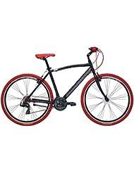 'Bicicleta Híbrida Cicli Adriatica Boxter RT de hombre con marco de aluminio, ruedas de 28, Shimano 21 velocidades, negro mate