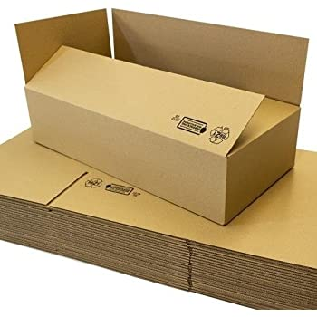 150 x 150 x 80 mm Faltkartons 50 St/ück Kleine Kartons aus Wellpappe Ideal f/ür den Paketversand