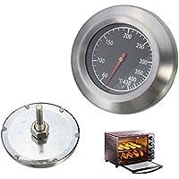 GEZICHTA Barbacoa de barbacoa. Grill ahumador para exteriores de acero inoxidable termómetro de barbacoa de 60 ℃ a 430 ℃.