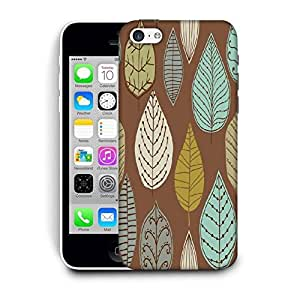 Snoogg Colorful Leaves Brown Printed Protective Phone Back Case Cover For Apple Iphone 5C