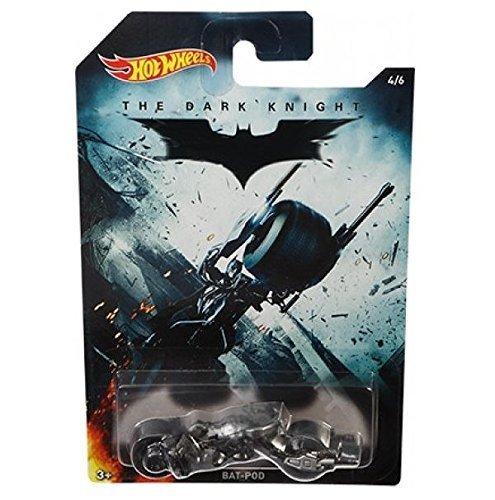 Hot Wheels Batman El Caballero Oscuro BAT-POD Batmóvil/ Moto Die-cast Coche (4/6)