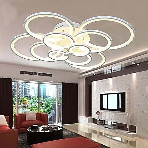 Lussuoso e moderno creativo di luce LED lampada minimalista fresco salotto ristorante personalità luminosa camera (Lampadario Decorativo Hardware Kit)