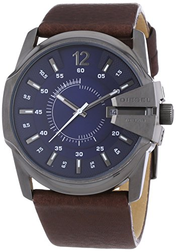 diesel-master-chief-mens-quartz-watch-with-blue-dial-analogue-display-and-brown-leather-bracelet-dz1