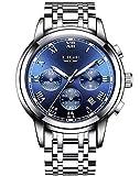 Lige Herren Uhr Analog Quarz wasserdichte mit Edelstahl Armband Chronograph 9810