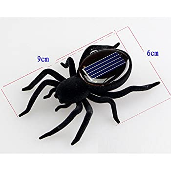 Solar Power Energy Toy,amamary Smallest Solar Power Mini Toy Car Racer + Spider Robot + Grasshopper Robot + Cockroach Robot Educational Solar Powered Toy Gadget Gift (Spider) 4