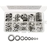 DIY Crafts 350pcs 304 Stainless Steel Flat Washers M1.6 M2 M2.5 M3 M4 M5 M6 M8 Assortment Set