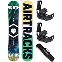 AIRTRACKS SNOWBOARD SET - TABLA NORTH SOUTH 159cm - FIJACIONES MASTER FASTEC L - SB BAG